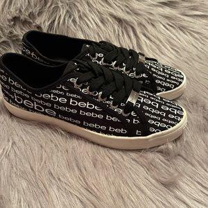 BEBE logo loafers size 8.5 NWOB